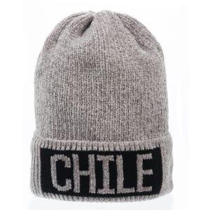 GORRO CORTO CHENILLE CHILE GRIS