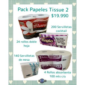 Pack Papeles Tissue 2
