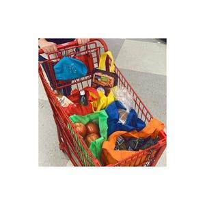 5 en 1 Bolsas Reutilizables para Carro de Supermercado