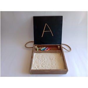 Caja Pizarra y Arena Montessori para la lectoescritura