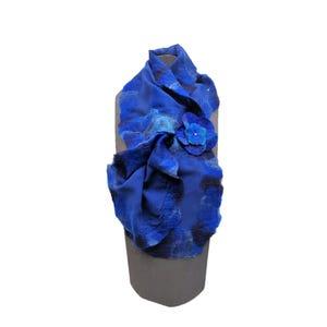 pañuelo cruzado fieltro azulino