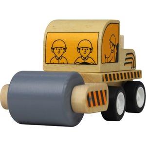 Camión de madera - Aplanadora