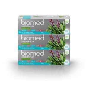 pasta dental BIOMED Biocomplex 100gr, Pack 3 unidades
