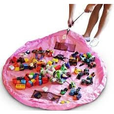 Organizador de juguetes rosado