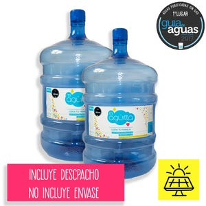 Pack 2 Botellon RECARGA 20lts Agua Purificada Remineralizada