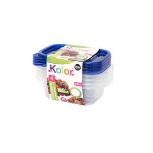 SET 4 RECTANGULO 270 ML KW