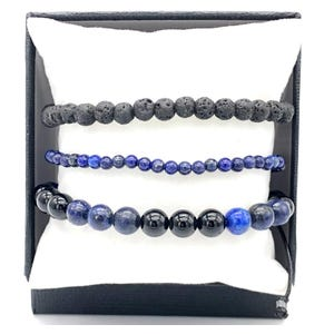 Set pulseras Lapislázuli
