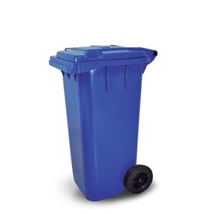 Contenedor basura con tapa de 120 litros y ruedas de 200 mm