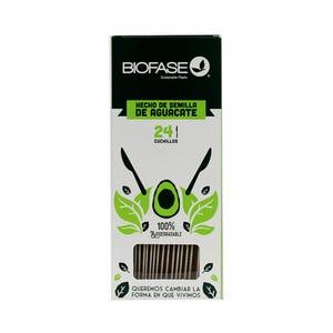Cuchillos Biodegradables 24 Unidades Hecho del Cuesco de la Palta