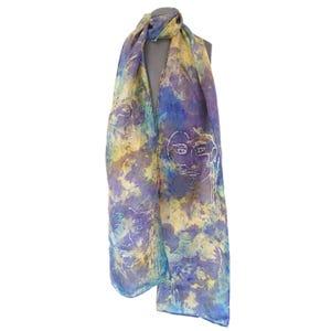 bufanda seda lila caras