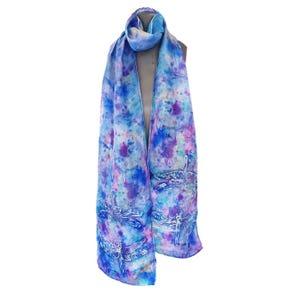 bufanda seda azulina libelula