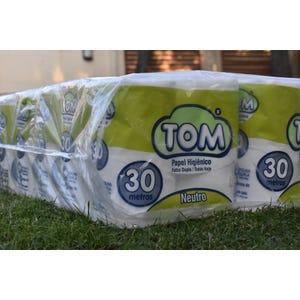 48 rollos de Papel Higiénico TOM Claramax Doble Hoja Tissue 30 metros.