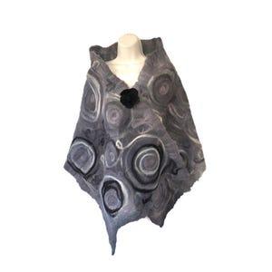 Echarpe espiral gris negro