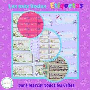 Kit de Etiquetas Escolares