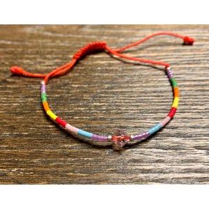 Pulsera cristal multicolor
