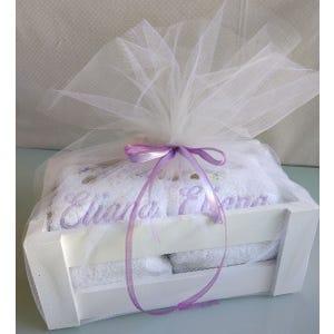 Caja toallas Violetas