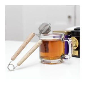 Infusor de té pinza madera