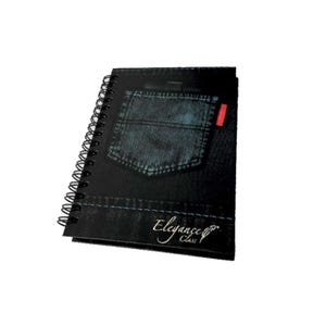 Cuaderno Espiral Diseño Jeans matemáticas 5 mm