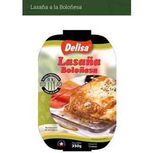 LASAÑA BOLOÑESA 350 gr - PLATO PREPARADO MICROONDEABLE