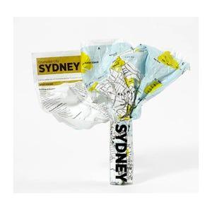 Mapa de la Ciudad Arrugable Sydney