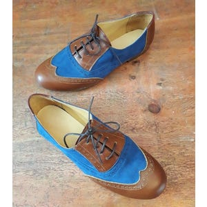 Zapatos Oxford Azul - Talla 38