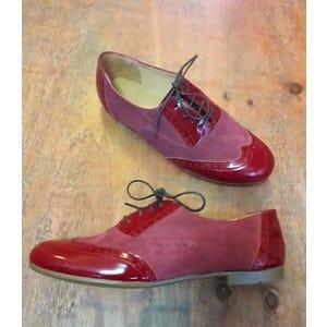 Zapatos Oxford Rojo - Talla 39