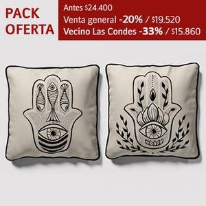 Pack fundas Cojín Mano de Fátima 100% algodón