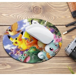 Mouse Pad Pokemon redondo