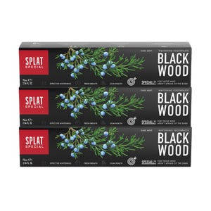 pasta dental SPLAT Blackwood 75ml, Pack 3 unidades