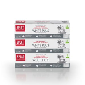 pasta dental SPLAT White Plus 100ml, Pack 3 unidades