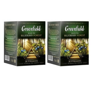 PACK 2 CAJAS DE TÉ GREENFIELD BLUEBBERRY FOREST