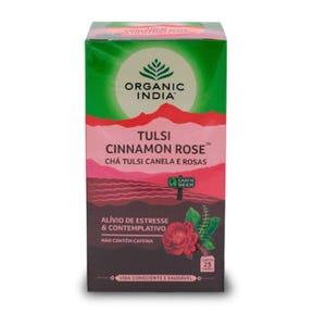 Té Organic India Tulsi Cinnamon Rose