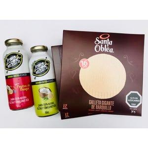 pack 3 cajas Santa Oblea + 3 Limonadas de Coco mix sabores