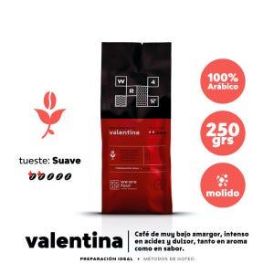 Café molido Tueste Suave WE ARE FOUR Valentina 250grs.
