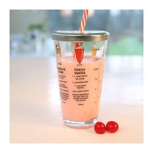Vaso con Recetas para Milkshake