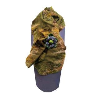 pañuelo cruzado verde musgo