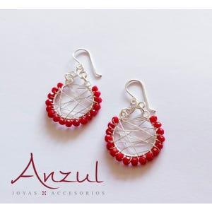 Aros con Cristales Rojos